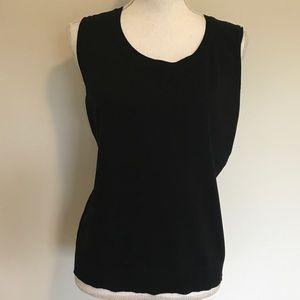 August Silk XLarge Sleeveless Black Career Sweater